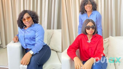 Screenshot: Regina Daniels mother places a generational curse on a fan who accused her of doing this