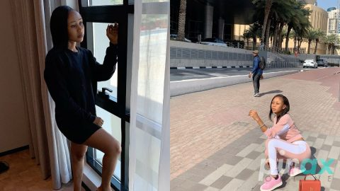 Video: Akuapem Poloo shades Ghana as she dines in a restaurant in the sky in Dubai