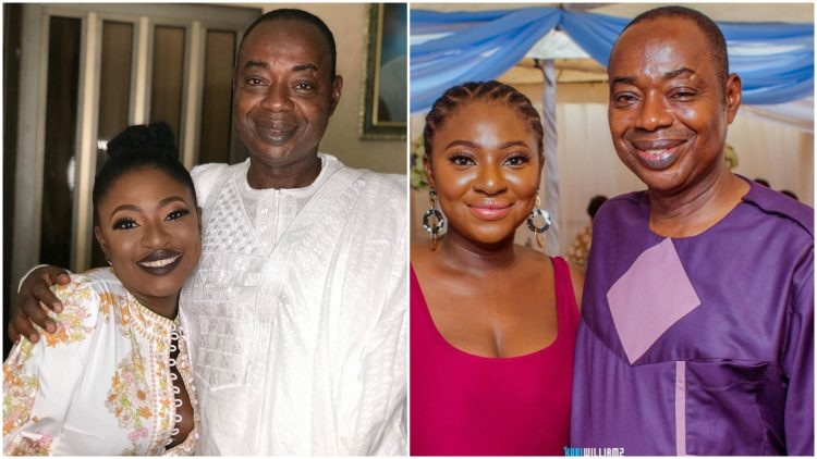 Photos: Nigerians React After Seeing Actress Yvonne Jegede And Father Have Similar Lips