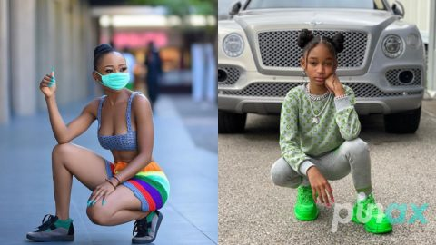 Photos: Ghanaians react after seeing the secret daughter of Akuapem Poloo who look just like her.