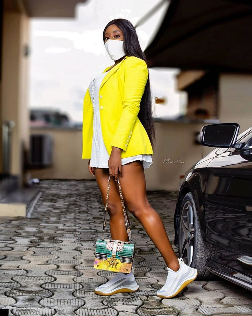 Checkout: Actress Ini Edo Drops Super Cute Photos In Her Compound