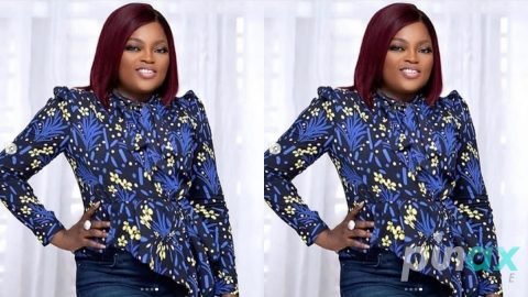 """Screenshot: """"I pray God heals our land! May all we've lost be replaced in hundred folds in Jesus""""  Funke Akindele prays for her fans"""
