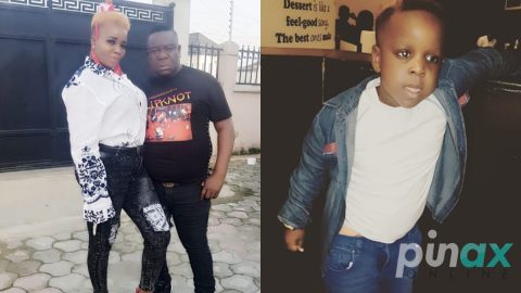 Photos: Like Father Like Son. See Pictures of Mr Ibu's Son who is just a carbon copy of Him
