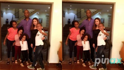 Photos: Ned Nwoko and Regina Daniels spend time with the Kids as they bond as a Family