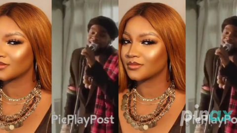 Video: Omotola Jalade shower praises on Patoranking after he sang a Romantic song for her