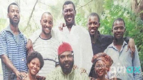 Photo: Yul Edochie shares a throw back Photo of him and his parents back in the 80s