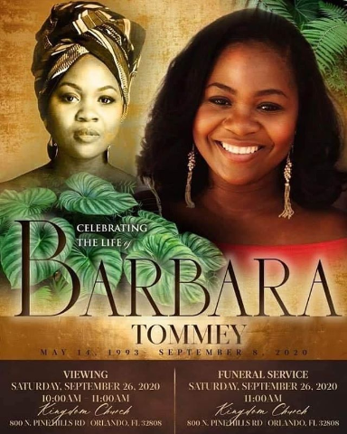 Barbara Tommey to finally go home tomorrow; Full details of funeral rites 2