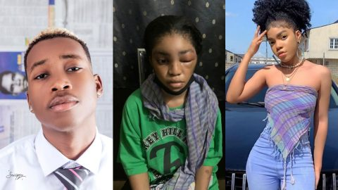 Davido's New Signee, Lil Frosh Allegedly Batters His Model Girlfriend, Shuts Her Eye- See Photos/Videos.