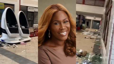 The Sovereign Lord Is My Strength! Tara Fela-Durotoye Proclaims As She Shares Videos of Her Looted, Vandalized Stores.