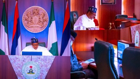 Unfortunately, The Protesters Refused To Call-off The Protest… 'Pres. Buhari At Work'- See Photos/Video.