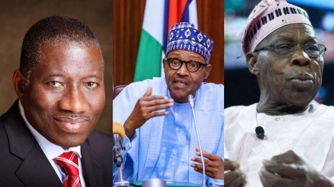 Buhari Holds Unusual Meeting With Jonathan, Obasanjo And Other Heads of State- See Details