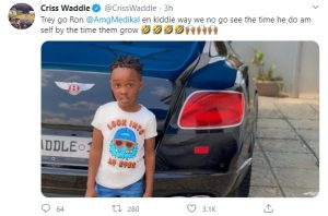 Criss Waddle Flaunts His Look Alike Son;Says He Will Chop Medikal's Daughter When They Grow