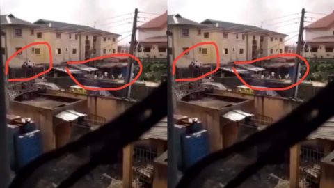 Leaked Video of Doctors Jumping Fence As Army Men Kill Survivals of Lekki Shooting Goes Viral