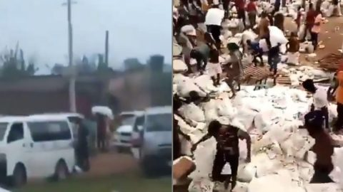 Security Operatives Allegedly Move From House To House To Retrieve Codvid-19 Palliatives Taken During End Sars Protest