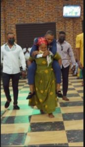 Crazy Moment Angel Obinim Made Old Woman With Chronic Waist Pain Carried Him At Her Back. 51