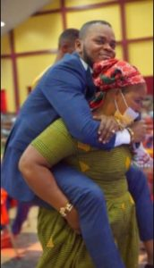 Crazy Moment Angel Obinim Made Old Woman With Chronic Waist Pain Carried Him At Her Back. 52