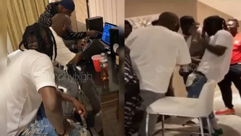 Banger Alert: Davido And Stonebwoy Record A New Song Together Upon His Arrival In Ghana