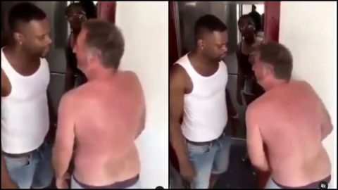 Video Of A Ghanaian Man Slapping The Hell Out Of An Italian Man For Trying To Sleep With His Wife Goes Viral