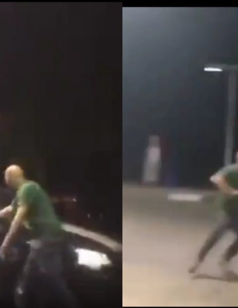 Petrol Attendants Mercilessly Beat White Man With Sticks For Calling Them 'Monkeys'- See Video.