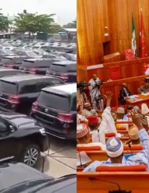 """We're in Recession But They're Buying Cars!""Outcry As Video of Brand New SUVs Allegedly Bought For Senators And Representatives Pops Online."