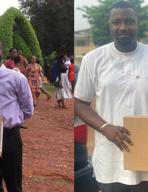 Actor John Dumelo Continues Distribution of 4000 Laptops To Tertiary Students In Ayawaso West