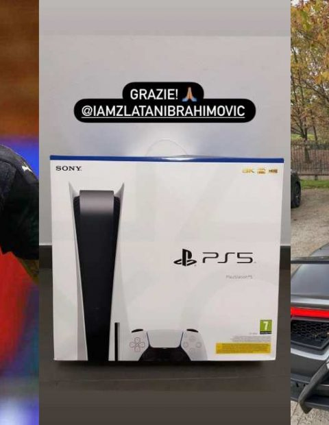 WoW! Ibrahimovic Surprise All AC Milan Teammates With Brand New PlayStation 5   (Photos)
