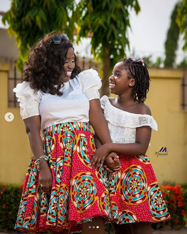 Diana Hamilton and her beautiful daughter stun on social media with  Adorable Photo of them twining in beautiful African Prints