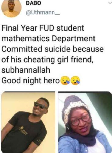 Level 400 student k!lls himself after his girl left him to spend valentine with another man (photos) 3