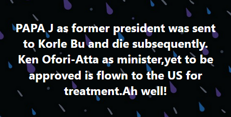 "Screenshot 2021 02 15 20 Facebook - ""You left former President Jerry John Rawlings to die at Korle – Bu But flying Ken Ofori Atta to USA for Treatment"" Ghanaians drag Akufo Addo's Government"