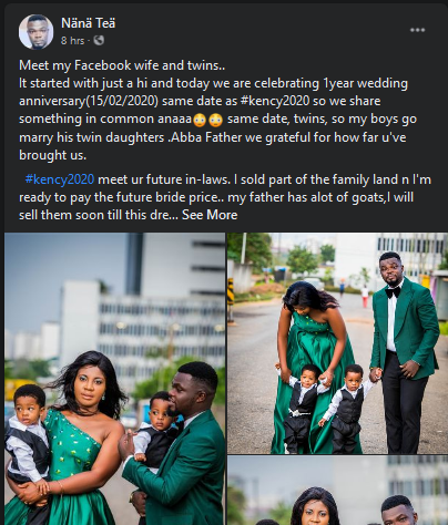 """""""My twin Boys will marry your twin girls""""- Popular facebook activist who married the same day as Kennedy Osei speaks 3"""