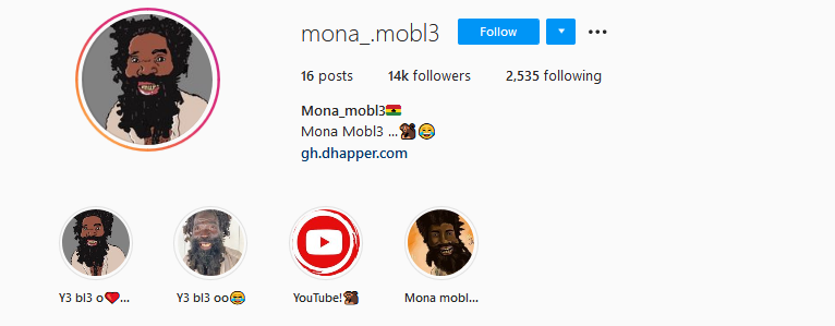 over 14,000 Ghanaians follow 'Mona Mobl3' madman on Instagram after just 3 days 2