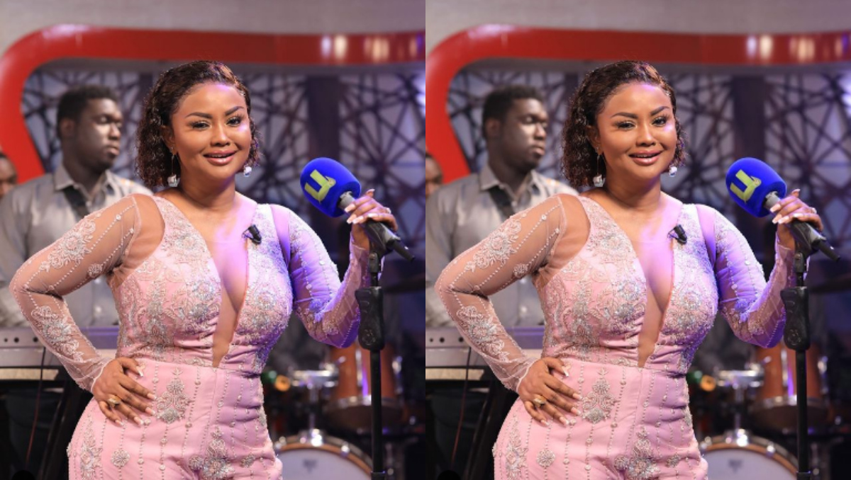 Nana Ama Mcbrown exposes her melon's in the dress she wore on yesterday's Program (photo) 2