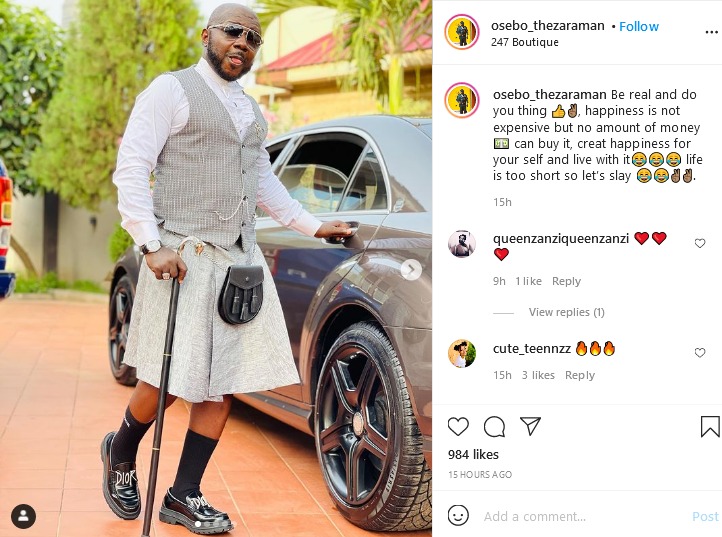 Osebo again!! wears skirts with suits and tells Ghanaians to real (photo) 2