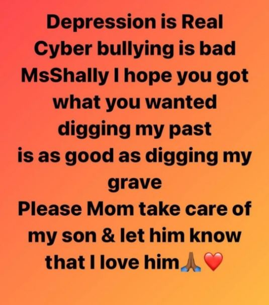 """'Please Mom Take Care Of My Son"""" – South Africa Based Zimbabwean Model Pens Down A Suicide Note As She Accuses Her Love Rival Ms Shally Of Leaking Her Sex Videos"""